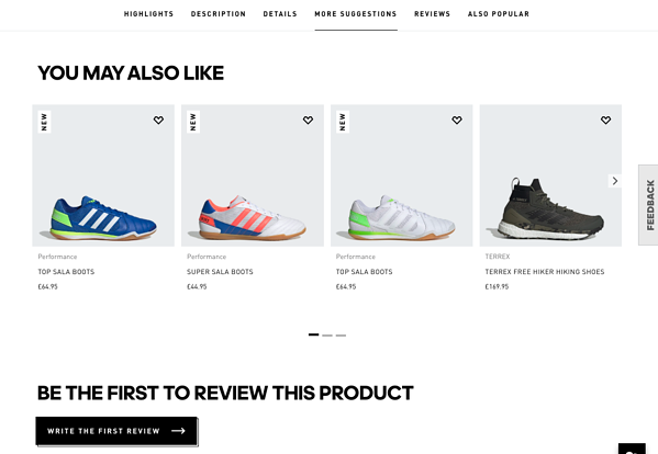 eCommerce marketing strategy example Adidas