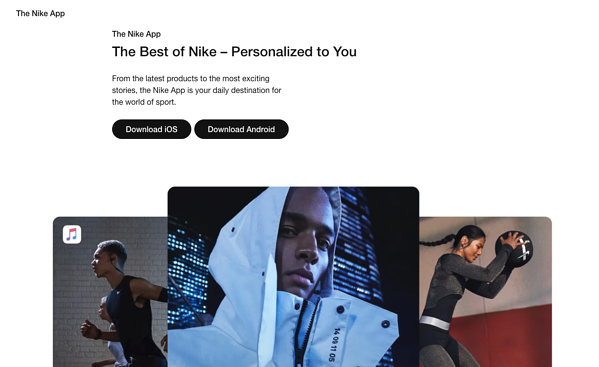 eCommerce marketing strategy example Nike plus