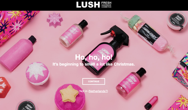 eCommerce marketing strategy example Lush