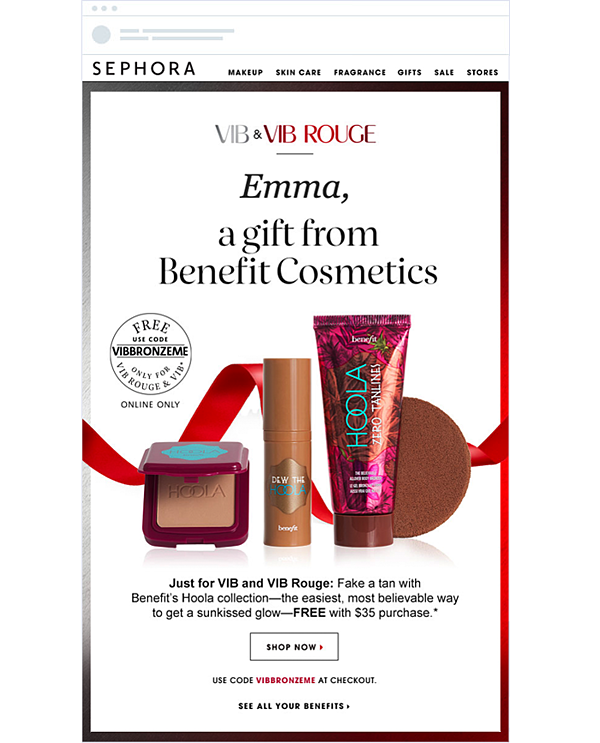 eCommerce marketing strategy example Sephora