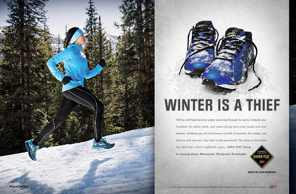 Goretex holiday marketing campaign