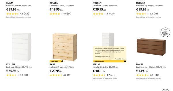 IKEA powered by Crobox persuasive design