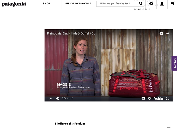 Patagonia customer experience online