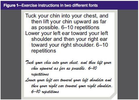 Fluency font study