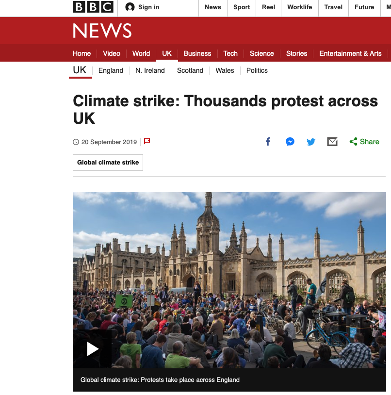 bbc climate strikes