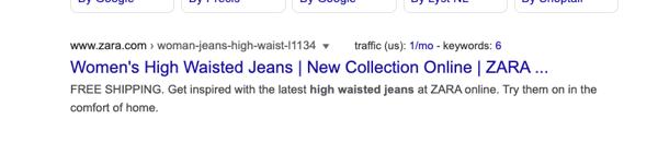 behavioral segmentation examples zara google ad high waisted