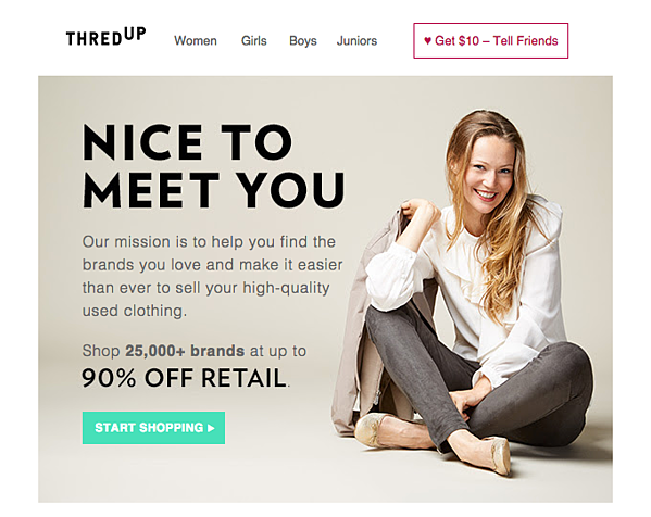 customer segmentation example thredup
