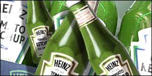heinz green bottle color change