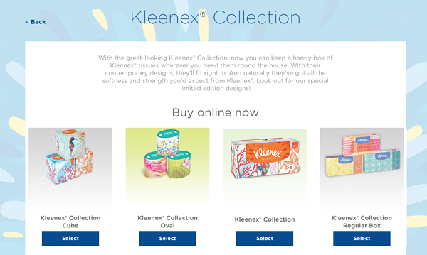 kleenex exclusive collection