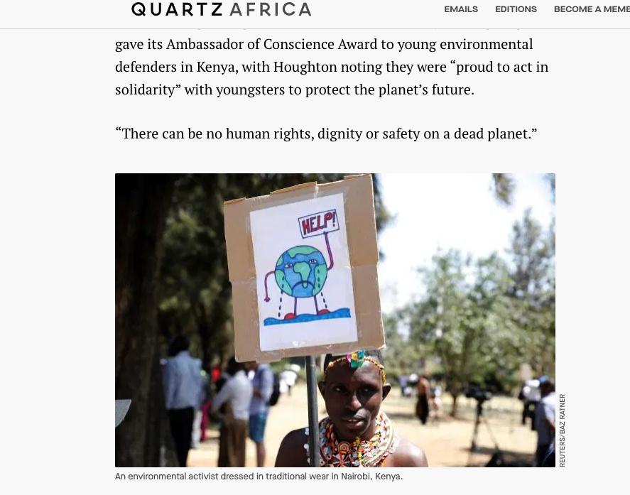 nairobi climate strikes