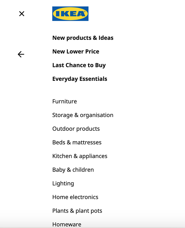 product attributes and benefits product taxonomy IKEA 2