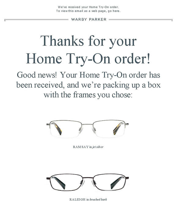 customer-centricity examples warby parker try home
