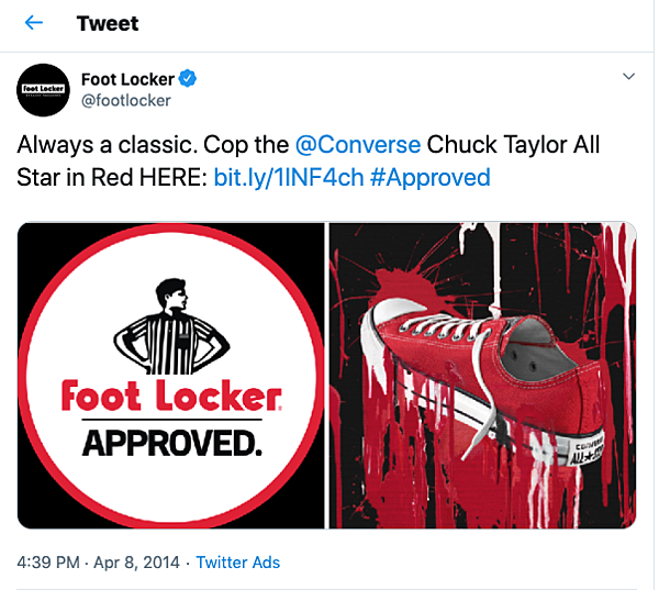 psychographic segmentation footlocker approved twitter
