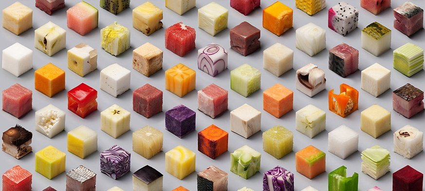 Satisfying food cubes