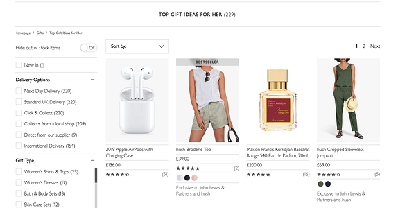 social proof marketing examples for gifts