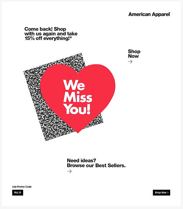 we miss you email campaign
