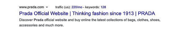 who is the luxury consumer psychology prada SERP