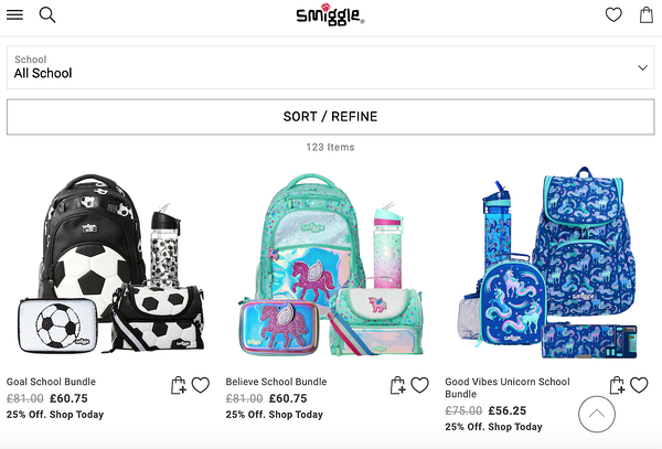 back to school marketing smiggle