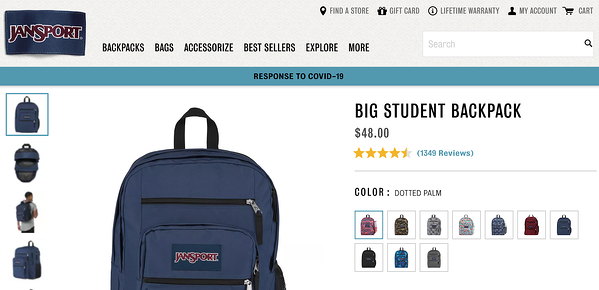 marketing campaigns 2020 retail recovery jansport